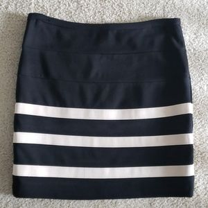 Forever21 Black Striped Skirt